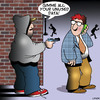 Cartoon: Data cartoon (small) by toons tagged data,unused,phone,plans,pre,paid,phones,robber,hoodie,mugging