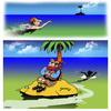 Cartoon: Desert island bagpipes (small) by toons tagged bagpipes,desert,island,survivor