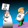 Cartoon: Donald Trump (small) by toons tagged the,end,is,nigh,donald,trump,presedent,elect,usa,armageddon,future