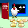 Cartoon: early learning (small) by toons tagged kindrgarten,pre,school,early,learning,chickens,eggs