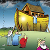 Cartoon: early warning system (small) by toons tagged noahs ark animals religion bible rain storms god floods cyclone