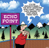 Cartoon: Echo point (small) by toons tagged echo,point,showing,off,self,centered,mountain,scenery