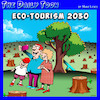 Cartoon: Eco tourism (small) by toons tagged wood,chopping,tourism,forests,climate,change