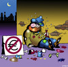 Cartoon: Euro free zone (small) by toons tagged euro,begging,broke,money,gfc,dollars,pounds,cash,tramps