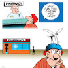 Cartoon: Flatulence (small) by toons tagged wind,tower,farting,constant,pharmacy,chemist