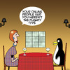 Cartoon: Flighty penguin (small) by toons tagged penguins