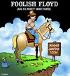 Cartoon: Foolish Floyd (small) by toons tagged bungee jump horses extreme sports skydiving absailing animals cowboys