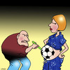 Cartoon: Football mad dad (small) by toons tagged football,sport,pregnant,embryo,tattoo