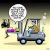 Cartoon: Forklift love (small) by toons tagged forklift