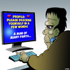Cartoon: Frankenstein dating (small) by toons tagged frankenstein,recycled,materials