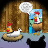 Cartoon: Free range (small) by toons tagged chickens,chooks,animals,free,range,farmyard,hens,eggs