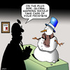 Cartoon: Frostbite (small) by toons tagged snowman,frostbite,doctors,diagnosis,global,warming