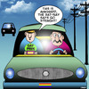 Cartoon: Going straight (small) by toons tagged gay,sat,nav,system,directions,driving,maps