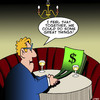 Cartoon: Great things (small) by toons tagged money,makes,you,happy,dollars,euros,cash,romance,love