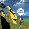 Cartoon: Happy Easter (small) by toons tagged easter island holiday statue sculpture tropical