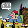 Cartoon: Health benefits of wine (small) by toons tagged wine,consumption,health,benefits,of,drinking,drunk,vino,retrospective