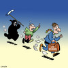 Cartoon: Hurry up (small) by toons tagged insurance,death,life,angel,of