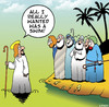 Cartoon: Jesus swimming (small) by toons tagged walking,on,water,apostles