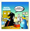 Cartoon: Just Browsing (small) by toons tagged hospitals,grim,reaper,doctors,nurses,casualty,medicare,health,policies,death
