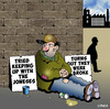 Cartoon: Keeping up with the Jones (small) by toons tagged begging,keeping,up,with,the,joneses,broke