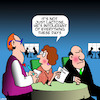 Cartoon: Lactose intolerant (small) by toons tagged lactose,gluten,free,menus,grumpy,old,men,restaurants,special,dietry,needs