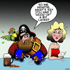 Cartoon: Lets hook up (small) by toons tagged pirates,pick,up,lines,captain,hook
