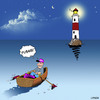 Cartoon: Lighthouse pizzas (small) by toons tagged pizza,lighthouse,delivery,boating