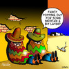 Cartoon: Mexican (small) by toons tagged mexico,mexican,food,takeaway,wild,west,sombrero,wetbacks,restaurants,cafe,poncho,dinner