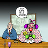 Cartoon: My life is a joke (small) by toons tagged clowns,circus,pubs,jokes,bars,drinking,beer,depression,drunk,complaining,performer