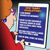 Cartoon: New years resolution (small) by toons tagged new,years,resolution,happy,year,ipads,divorce,obesity,chocolate
