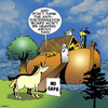 Cartoon: No gays (small) by toons tagged noah,ark,unicorns,gays,myth,homosexuals