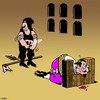 Cartoon: Not a good day (small) by toons tagged guillotine,gay,beheaded,execution,zipper,medievil