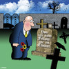 Cartoon: now you can (small) by toons tagged twitter,social,media,blogging,cemetary,death,headstone