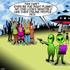 Cartoon: Online profile picture (small) by toons tagged facebook,online,profile,social,media,aliens,spaceship,flying,saucer,alien,invasion,false,identity