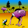 Cartoon: ostrich tv (small) by toons tagged ostrich,birds,flightless,tv,pay,cable,radar,satellite,dish,entertainment,video,dvd,disc