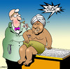 Cartoon: ouch (small) by toons tagged swami,needles,injection,doctors,medical,indian