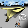 Cartoon: Paper planes (small) by toons tagged cheap,air,travel,paper,planes,cattle,class,airline,tickets