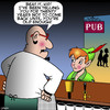 Cartoon: Peter Pan (small) by toons tagged neverland,peter,pan,tinkerbell,underage,drinking,alcohol,fairy,tales,publican,refuded,entry