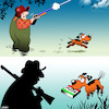 Cartoon: Pizza dog (small) by toons tagged duck,hunting,pizza,dog,season,hunters