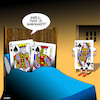 Cartoon: Playing up cards (small) by toons tagged playing,cards,royalty,infidelity,royal,flush,queen,and,king