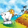 Cartoon: polar lions (small) by toons tagged global,warming,polar,bears,melting,ice,caps,africa,lions,cats,emmissions,trading,oceans,environment