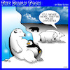 Cartoon: Polar opposites (small) by toons tagged polar,bears,penguins,opposite,animals,opposites,attract,north,pole,south