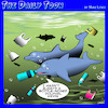Cartoon: Polluted oceans (small) by toons tagged polluted,oceans,dolphins,plastic,bags,global,warming,pollution,bottles