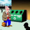 Cartoon: Recyling bins (small) by toons tagged disposable,income,recycling,bins,environment,money