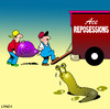 Cartoon: Reposessions (small) by toons tagged reposession,home,moving,snail,slug,removalist