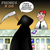 Cartoon: Requiem ringtone (small) by toons tagged smart,phones,ringtones,angel,of,death,iphone