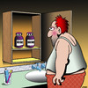 Cartoon: Rise and shine cartoon (small) by toons tagged morning,person,pills,bathroom,cabinet,hungover,medicine