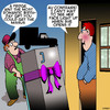 Cartoon: Romantic gift (small) by toons tagged birthdays,fridge,delivery,man,birthday,gifts