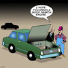 Cartoon: Search engine (small) by toons tagged search,engine,google,cars,yahoo,bing,engines,mechanic,car,repair,vehicles,traffic,auto,theft,internet