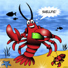 Cartoon: Shellfie (small) by toons tagged selfie,lobster,crayfish,smart,phone,shell,fish